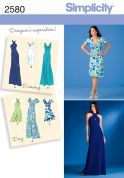 Simplicity Ladies Sewing Pattern 2580 Day & Special Occasion Dresses