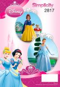 Simplicity Childrens Sewing Pattern 2817 Snow White & Cinderella Disney Costumes