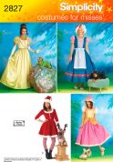 Simplicity Ladies & Pet Dogs Sewing Pattern 2827 Fancy Dress Costumes