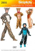 Simplicity Childrens Sewing Pattern 2855 Gorilla, Lion, Bear & Cat Costumes