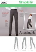 Simplicity Ladies Sewing Pattern 2860 Smart Trousers