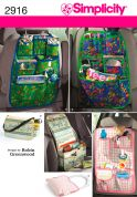 Simplicity Accessories Easy Sewing Pattern 2916 Car Organizers
