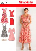 Simplicity Ladies Sewing Pattern 2917 Dresses, Skirt & Top