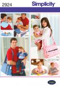 Simplicity Baby Boy & Girls Sewing Pattern 2924 Nappy Bags & Accessories