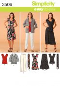 Simplicity Ladies Easy Sewing Pattern 3506 Dress, Top, Skirt, Pants, Jacket & Tie Belt