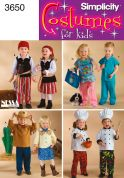 Simplicity Childrens Sewing Pattern 3650 Fancy Dress Costumes