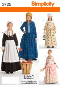 Simplicity Childrens Sewing Pattern 3725 Historical Fancy Dress Costumes