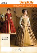 Simplicity Ladies Sewing Pattern 3782 Historical Elizabethan Costumes