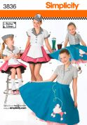 Simplicity Childrens Sewing Pattern 3836 Circular Skirt Fancy Dress Costumes