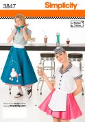 Simplicity Ladies Sewing Pattern 3837 Circular Skirt Fancy Dress Costumes