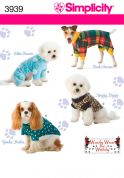 Simplicity Pets Easy Sewing Pattern 3939 Dog Clothes in 3 Sizes