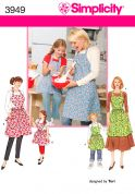 Simplicity Ladies & Girls Easy Sewing Pattern 3949 Matching Aprons