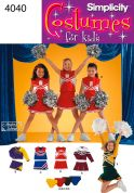 Simplicity Childrens Sewing Pattern 4040 Cheerleader Fancy Dress Costumes