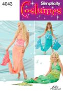 Simplicity Ladies & Girls Sewing Pattern 4043 Mermaid Fancy Dress Costumes