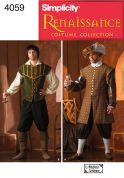 Simplicity Men's Sewing Pattern 4059 Historical Renaissance Costumes