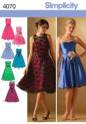 Simplicity Ladies Sewing Pattern 4070 Cocktail Dresses