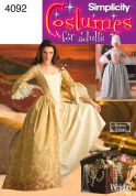 Simplicity Ladies Sewing Pattern 4092 18th Century Dresses Costumes