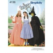 Simplicity Ladies Sewing Pattern 4136 The Wizard of Oz Costumes