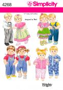 """Simplicity Crafts Sewing Pattern 4268 15\"""" Doll Clothes"""
