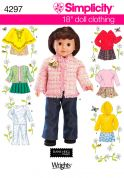 Simplicity Crafts Sewing Pattern 4297 Doll Clothing