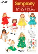 Simplicity Crafts Sewing Pattern 4347 Doll Clothes Complete Wardrobe