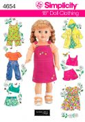 Simplicity Crafts Sewing Pattern 4654 Doll Clothes for Summer