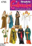 Simplicity Ladies, Mens & Teenagers Sewing Pattern 4795 Nativity Costumes