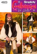 Simplicity Men's Sewing Pattern 4923 Pirate Fancy Dress Costumes