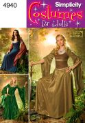 Simplicity Ladies Sewing Pattern 4940 Medieval Fantasy Costumes