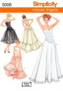 Simplicity Ladies Sewing Pattern 5006 Lingerie Corsets, Petticoats & Underskirts
