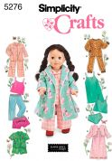 Simplicity Crafts Sewing Pattern 5276 Doll Clothes Pyjamas & Sleepwear