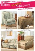 Simplicity Homeware Sewing Pattern 5383 Cushions & Slipcovers for Sofa's, Chairs & Ottoman