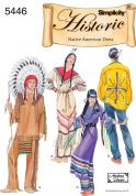 Simplicity Ladies & Men's Sewing Pattern 5446 Native American Costumes