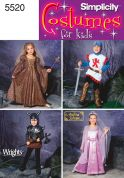 Simplicity Childrens Sewing Pattern 5520 Fantasy Fancy Dress Costumes