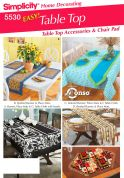 Simplicity Homeware Sewing Pattern 5530 Table Cloths, Place Mats, Table Runners & Chair Covers