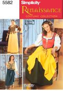 Simplicity Ladies Sewing Pattern 5582 Renaissance Dresses Costumes