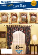 Simplicity Homeware Easy Sewing Pattern 5696 Circular Valance & Curtains