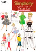 "Simplicity Crafts Sewing Pattern 5785 11.5"" Doll Clothes Fashion Wardrobe"