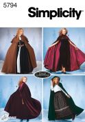 Simplicity Ladies Sewing Pattern 5794 Full Length Capes