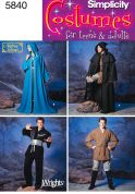 Simplicity Adults & Teenagers Sewing Pattern 5840 Capes & Fantasy Costumes