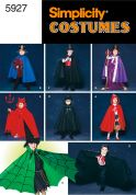 Simplicity Childrens Sewing Pattern 5927 One Piece Cape Costumes