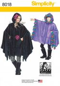 Simplicity Ladies & Girls Sewing Pattern 8018 Hooded Ponchos