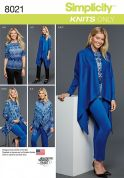 Simplicity Ladies Sewing Pattern 8021 Pants, Tops & Draped Cardigan