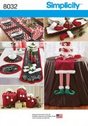 Simplicity Homeware Sewing Pattern 8032 Christmas Table Runner, Placemats & Decorations