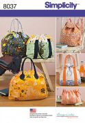 Simplicity Accessories Sewing Pattern 8037 Backpack, Tote Bag & Cosmetic Bags