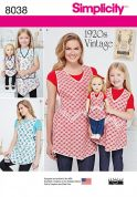 Simplicity Ladies, Girls & Dolls Sewing Pattern 8038 Vintage Style Aprons