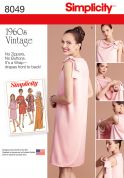 Simplicity Ladies Easy Sewing Pattern 8049 1960s Vintage Style Wrap Dress