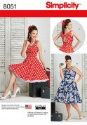 Simplicity Ladies Sewing Pattern 8051 Vintage Style Dresses
