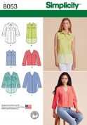 Simplicity Ladies Sewing Pattern 8053 Shirts & Blouse Tops