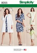 Simplicity Ladies Sewing Pattern 8055 Dress, Coat & Jacket